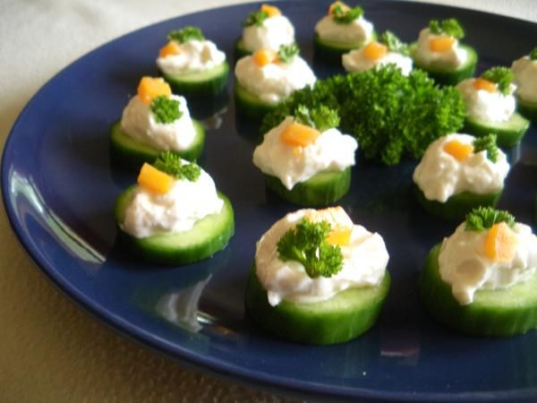 Light cucumber canapes recipe canapes cucumber and for Cheap canape ideas