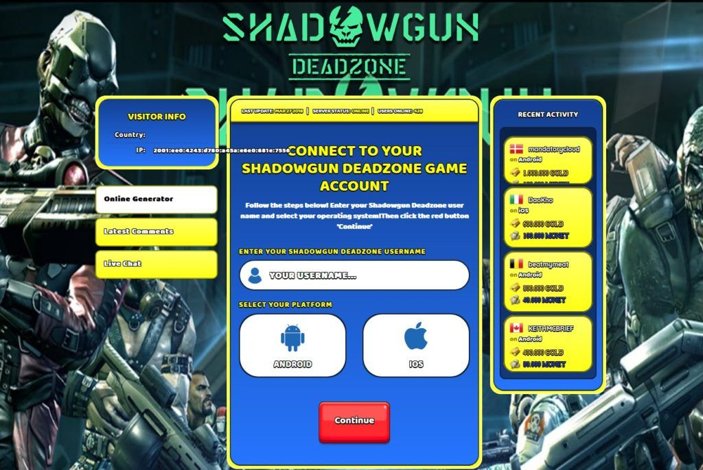 Shadowgun deadzone hack tool.