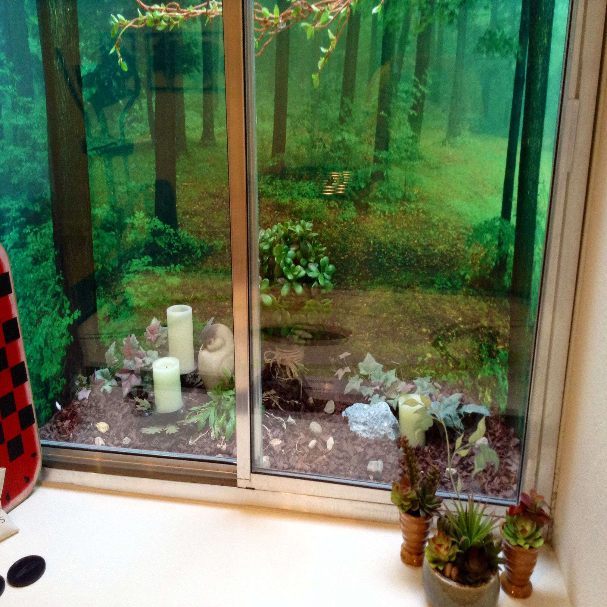 Window well decoration ideas  liven up a boring basement window well with our incredible scenes