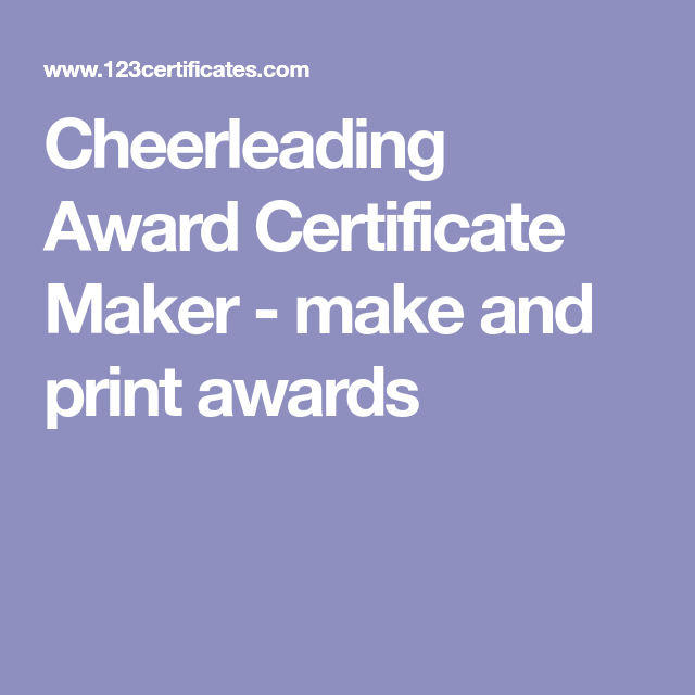 Cheerleading award certificate maker make and print awards diy free printable cheerleading certificates and certificate templates to personalize and print yelopaper Image collections