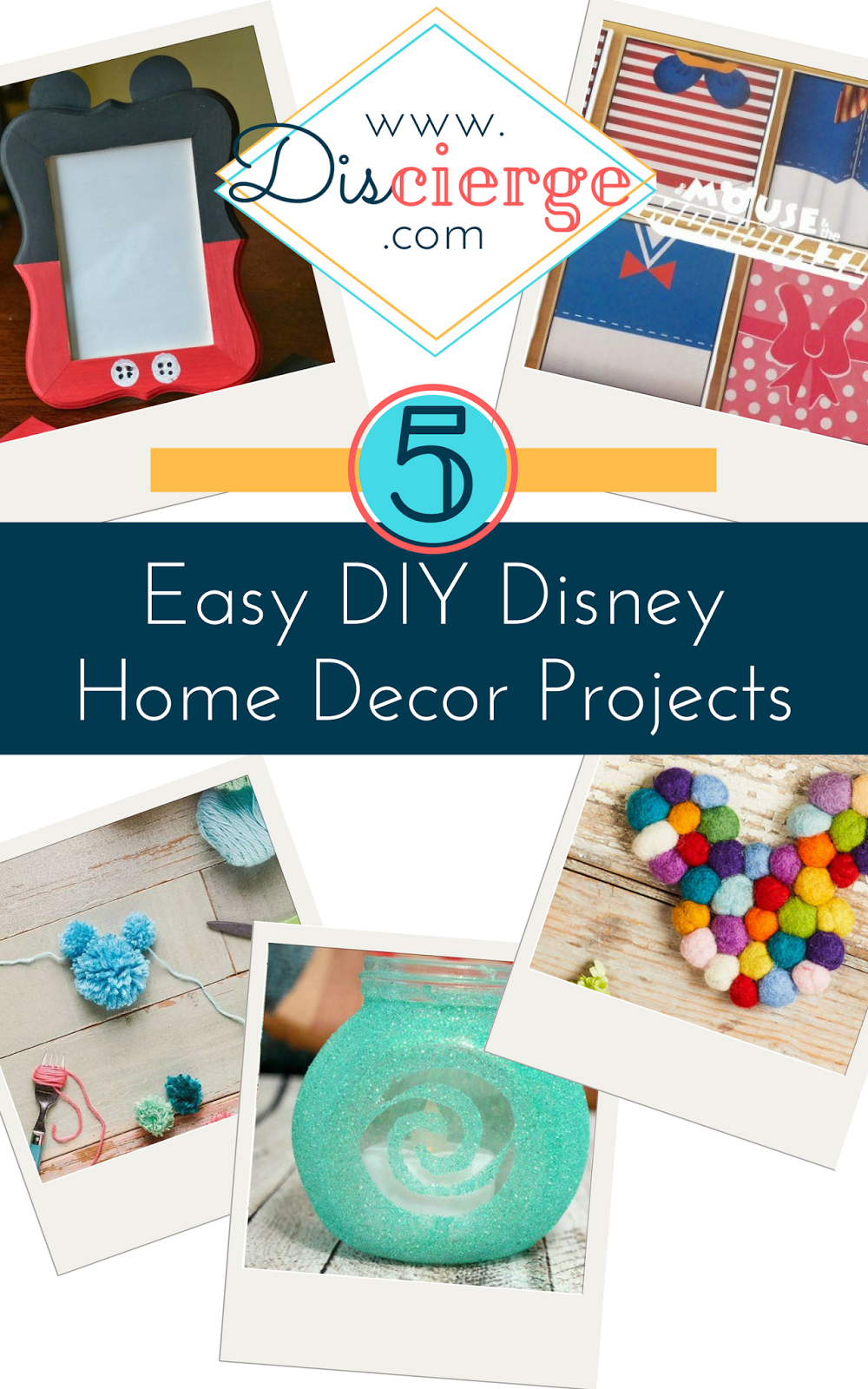 5 Easy Colorful Disney Home Projects To Make Disney Diy Crafts Disney Diy Disney Home Decor