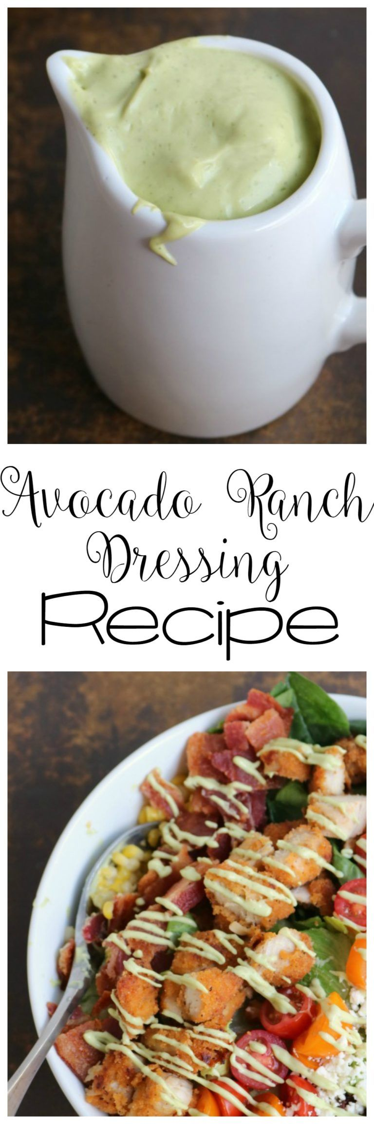 Avocado Ranch Dressing #avocadoranch