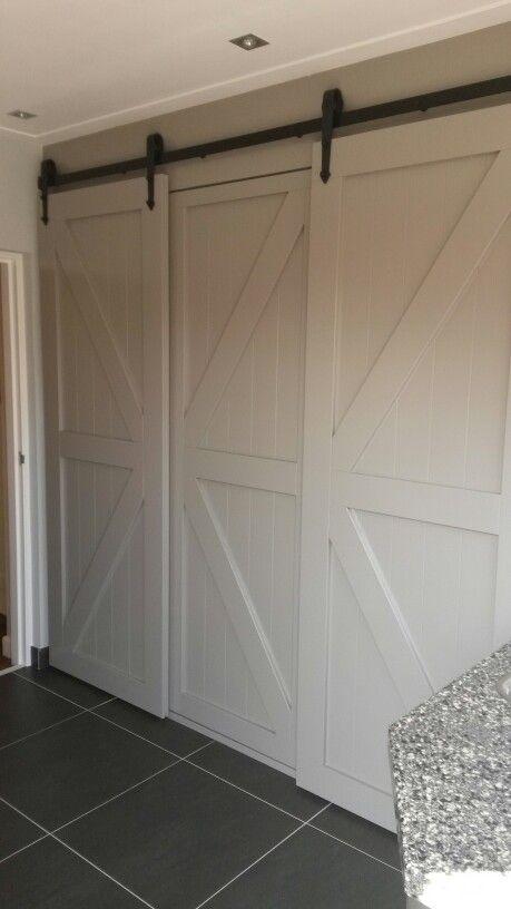 Stallook Schuifdeuren In Bijkeuken Barndoor Closet Door