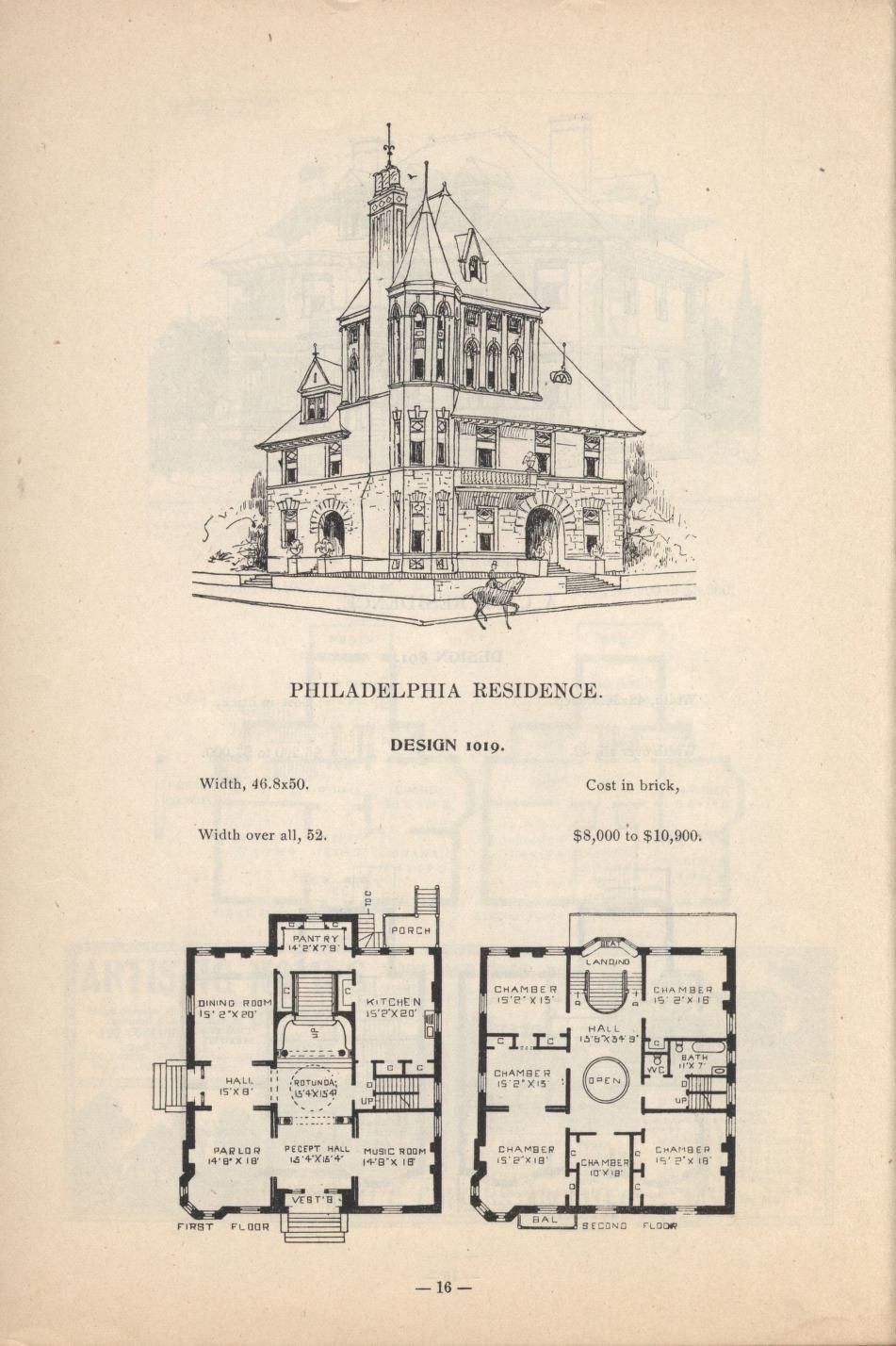 Artistic City Houses No 43 Herbert Chivers Free Download Borrow And Streaming Internet Archive Victorian House Plans House Plans Vintage House Plans