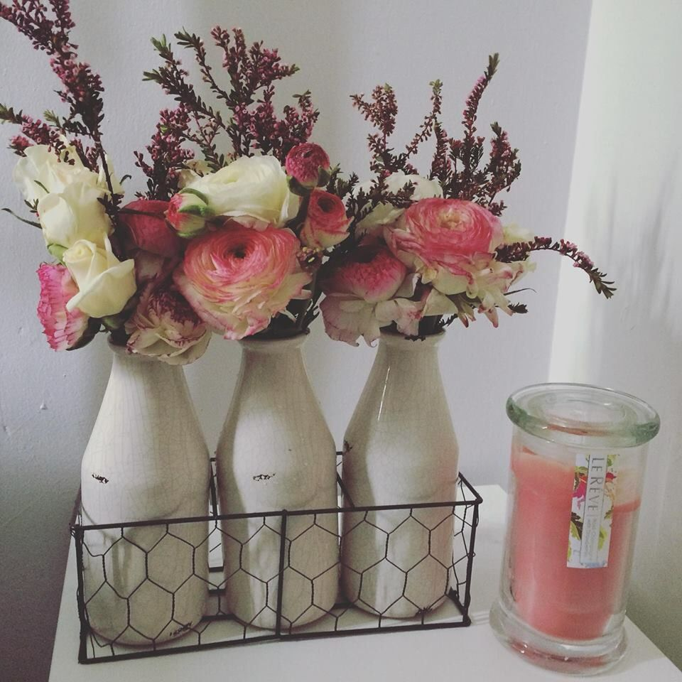 These rustic Kmart vases are sure cheap, just 6. Candle