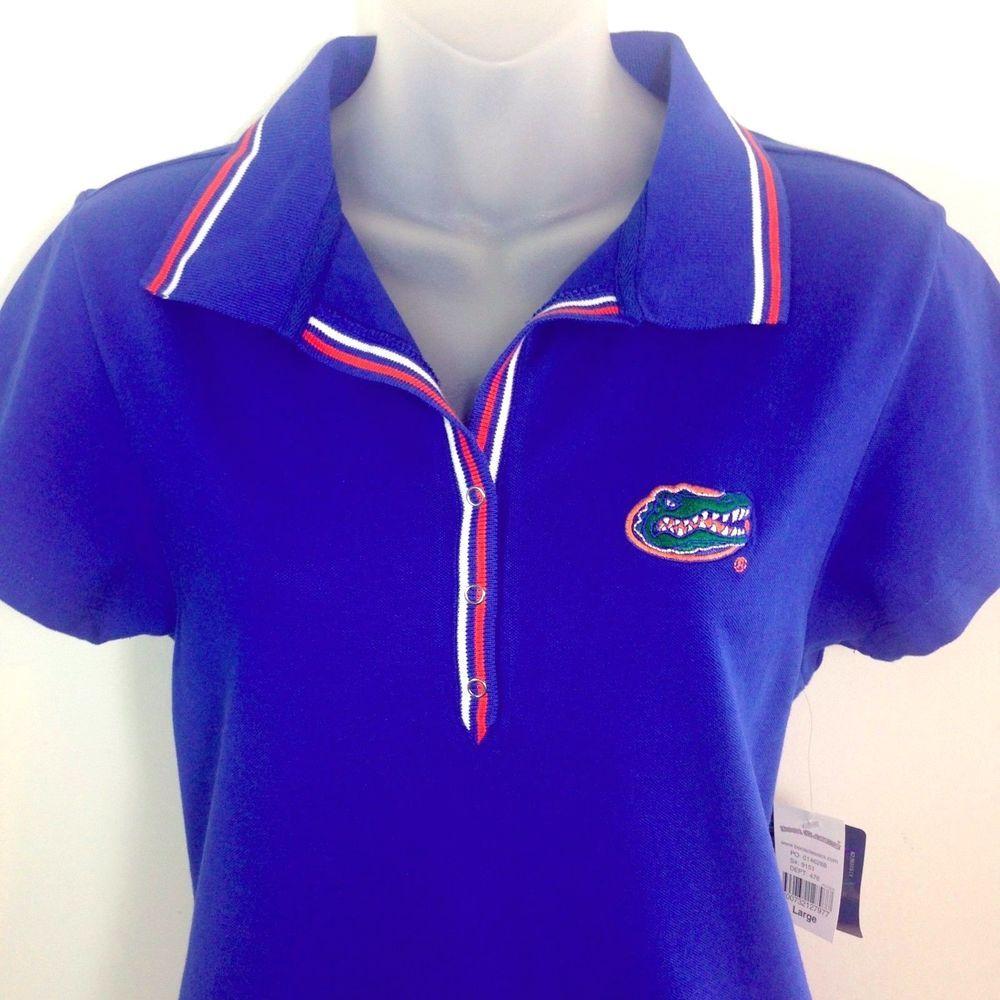 Florida Gators Polo Shirt Large Womens Blue Boca Classics For Ladies