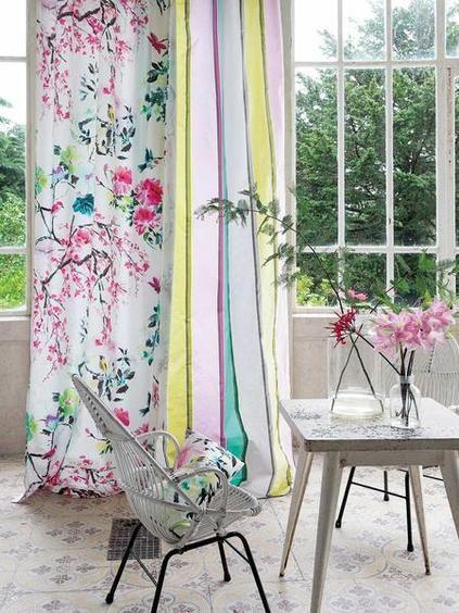 10 ideas para decorar con cortinas Cortinas, Telas por metros y El