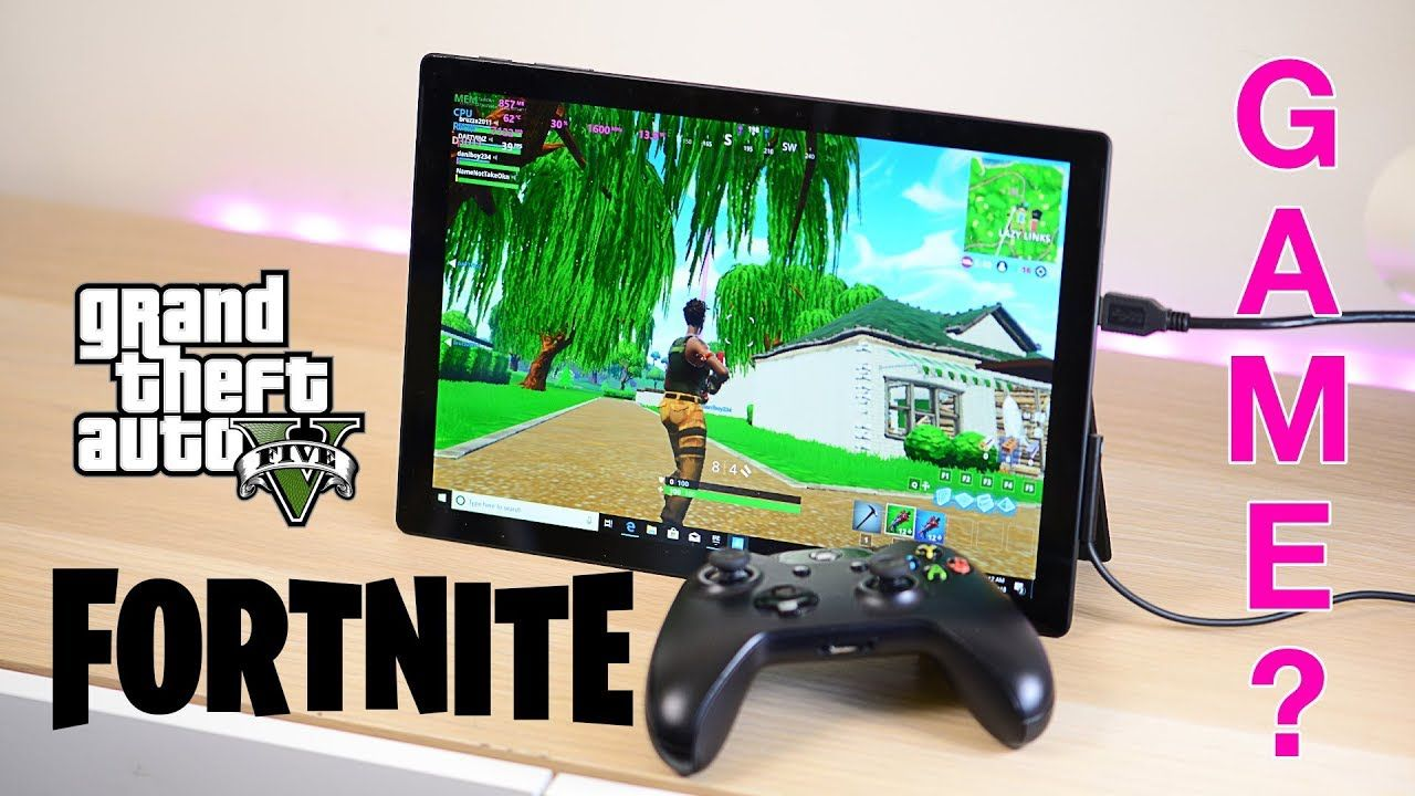 Surface Pro 6 Gaming Review - Fortnite, GTA 5, Civ 6 - Can