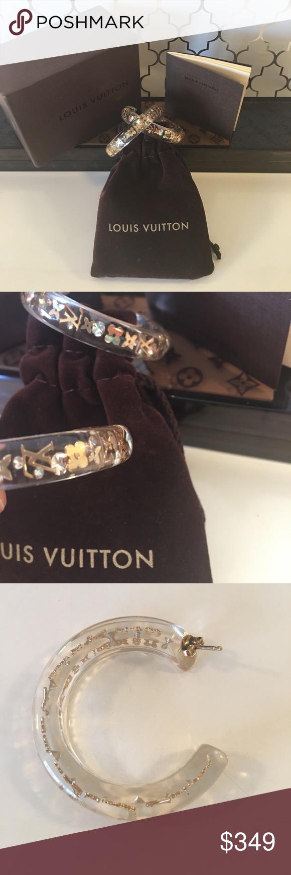 ⭐️LOUIS VUITTON LARGE HOOP EARRINGS 💯AUTHENTIC LOUIS ...