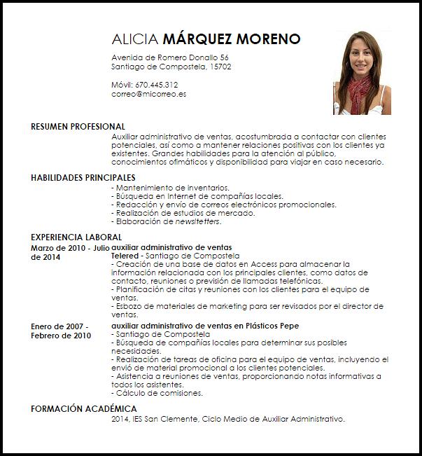 Curriculum Vitae Auxiliar Administrativo Modelo De Curriculum Vitae Job Resume Template Curriculum Vitae Good Essay