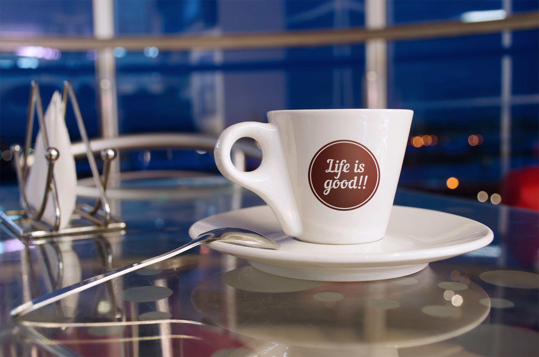 Free Cup Mockup PSD Coffee logo, Vintage coffee, Logos