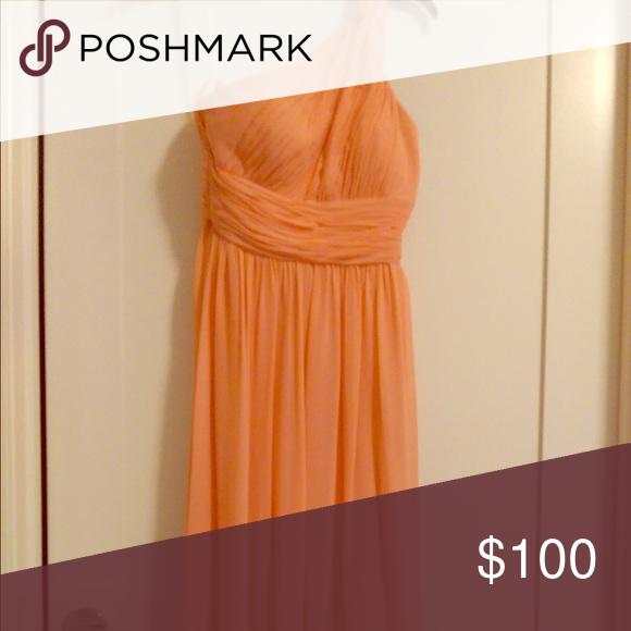 Size 2, floor length, peach Donna Morgan dress Size 2, floor length, peach Donna Morgan dress Dresses One Shoulder