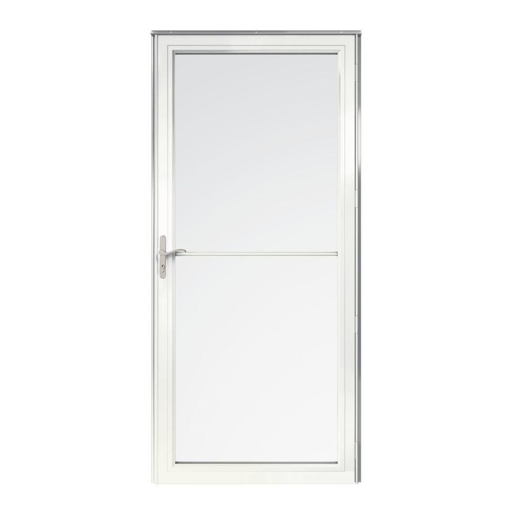 Andersen 2500 Series Full View Retractable Aluminum Storm Door The Home Depot Aluminum Storm Doors Tall Cabinet Storage Doors