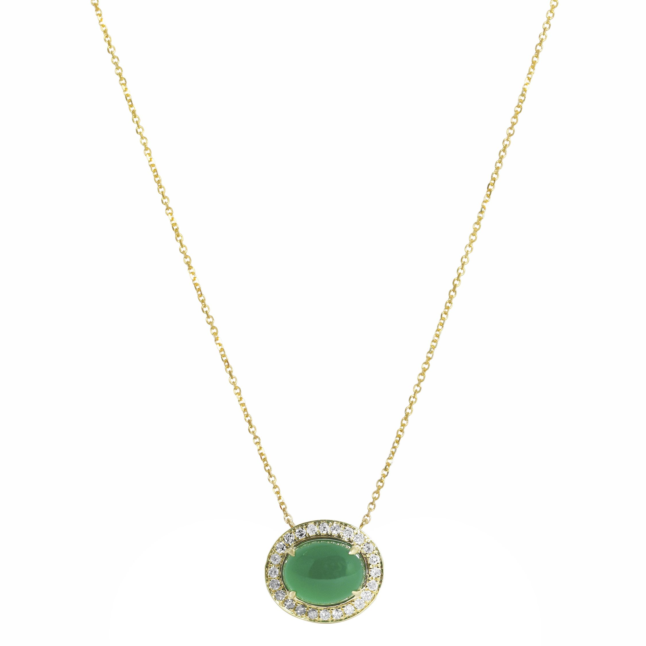 Hillary Green yx Necklace Meredith Marks Designs