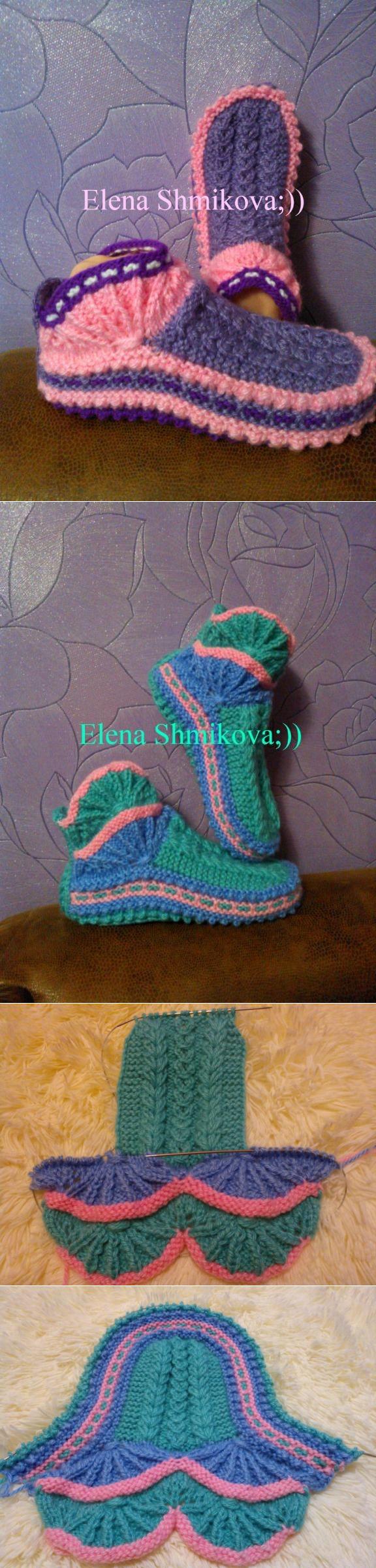 Вязаная обувь | Speicher häkeln, Stricken und Strümpfe/Socken