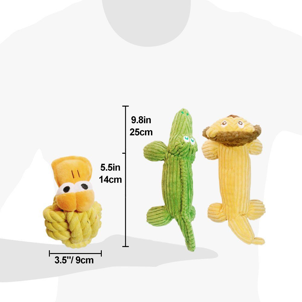 Small Dog Toys Plush Alligator Dog Toy With Squeakers Dog Toys 3