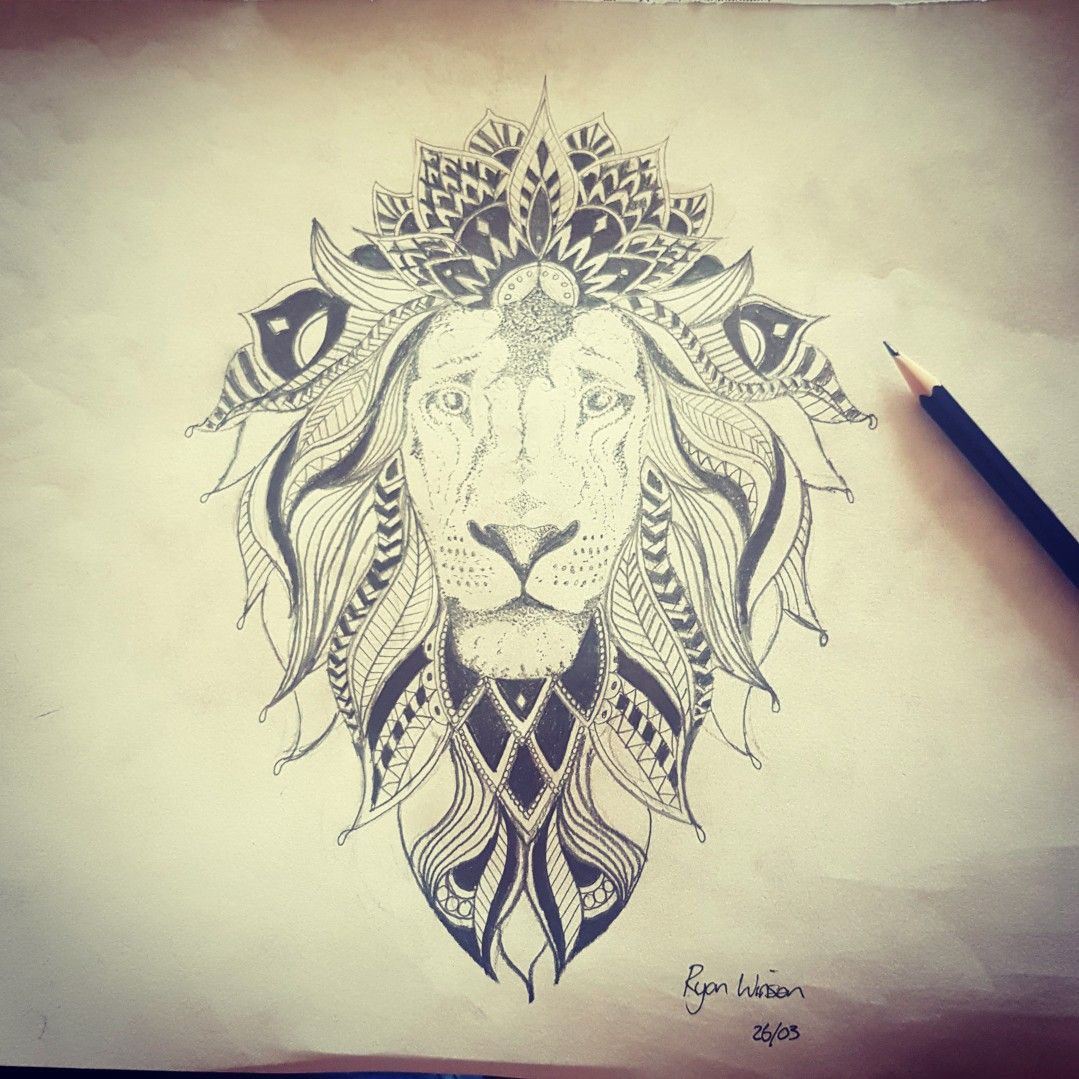 Lion Mandalay Tattoo Design Mandala Tattoo Design Tattoo Designs Lion Mandala