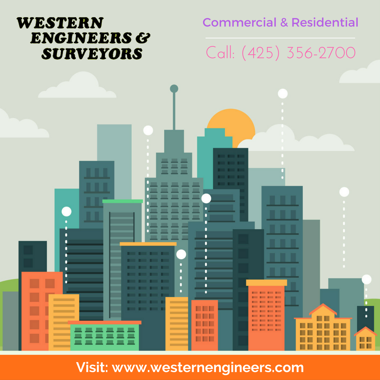 Western Engineers and Land Surveyors are highly experienced in Commercial & Residential Land Surveying. We have advanced land survey equipment's for making accurate measurements. For more info call:(425) 356-2700, Visit: http://westernengineers.com