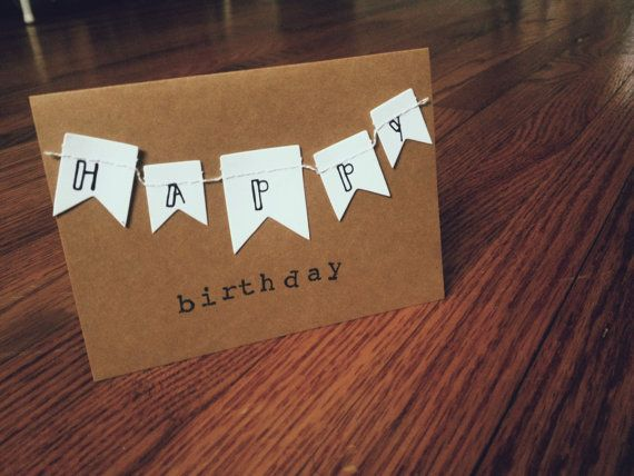Birthday Banner Card by NutmegNotes on Etsy