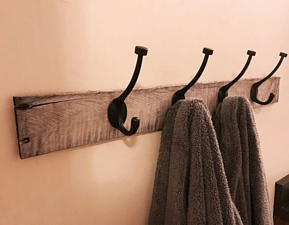 Wall Hangers For Clothes Extraordinary Rustic Towel Hooks For Bathroom Wall Hanger With 4 Hooks  Bath Design Inspiration