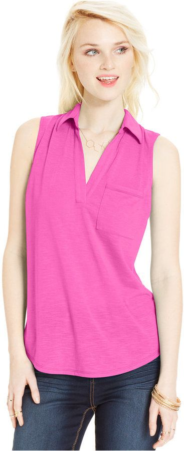 Almost Famous Juniors' Slub-Knit Sleeveless Top