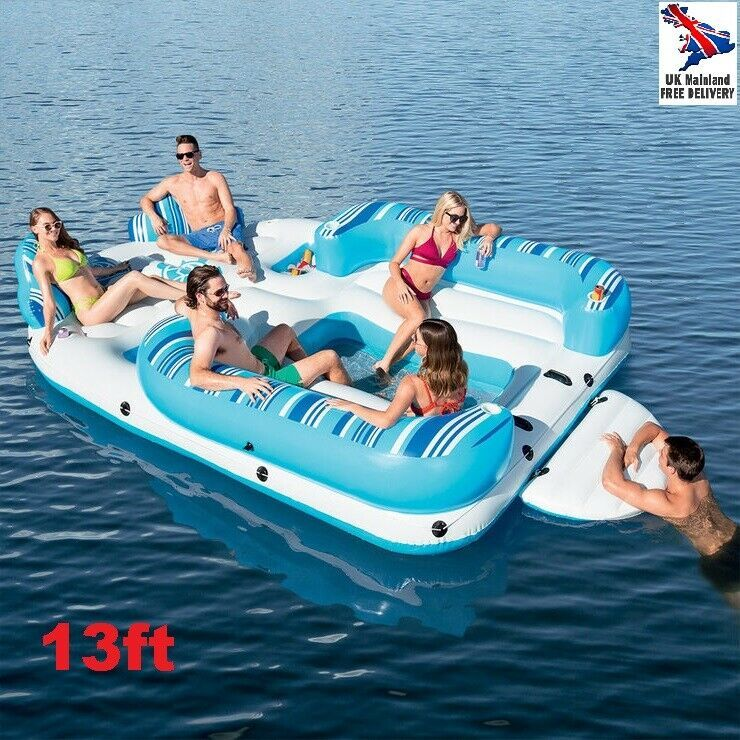 Giant Floating Island Inflatable Lounger Pool Float Lake Sea Party Raft 6 Person Float Rafting Pool Poolside Abovegroundpool Party Raft Pool Float Pool