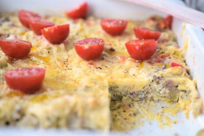 Frühstücksauflauf für ein gemütliches Low Carb Frühstück