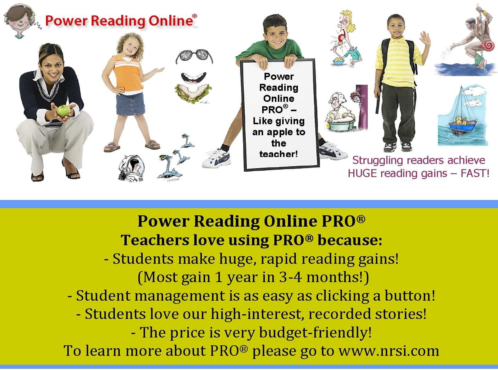 Power Reading Online PRO - K-12 The best online reading