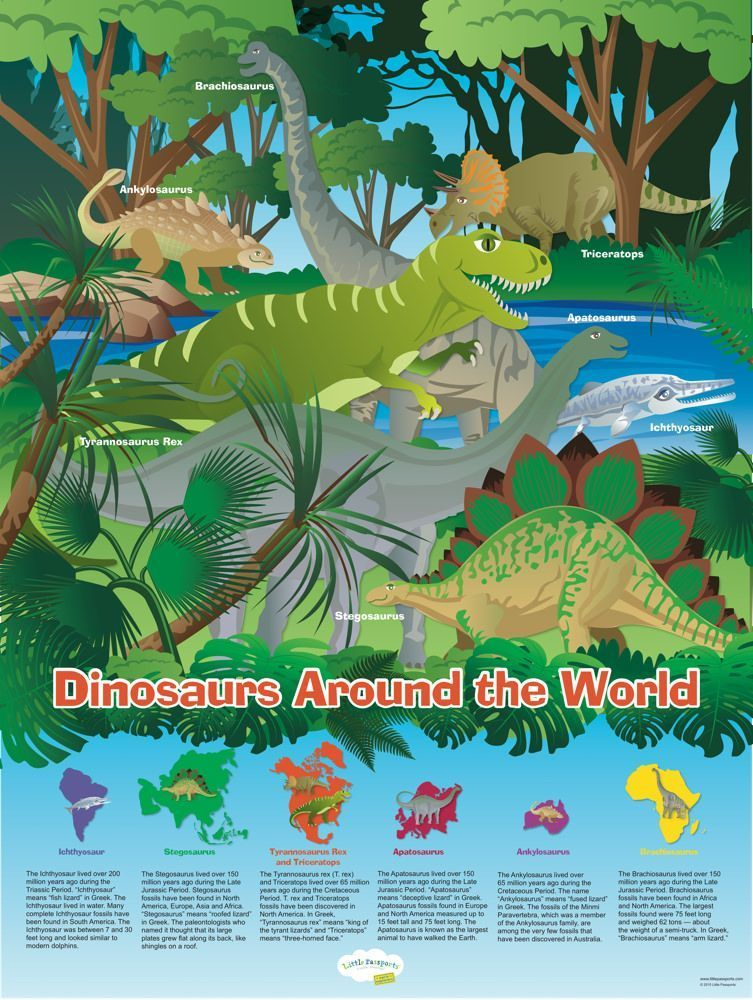 18 x 24 Wallsized poster with dino & fossil facts! (With