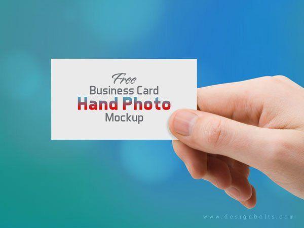 Free Business Card Hand Photo Mockup Psd Cc A Im Gh Thm
