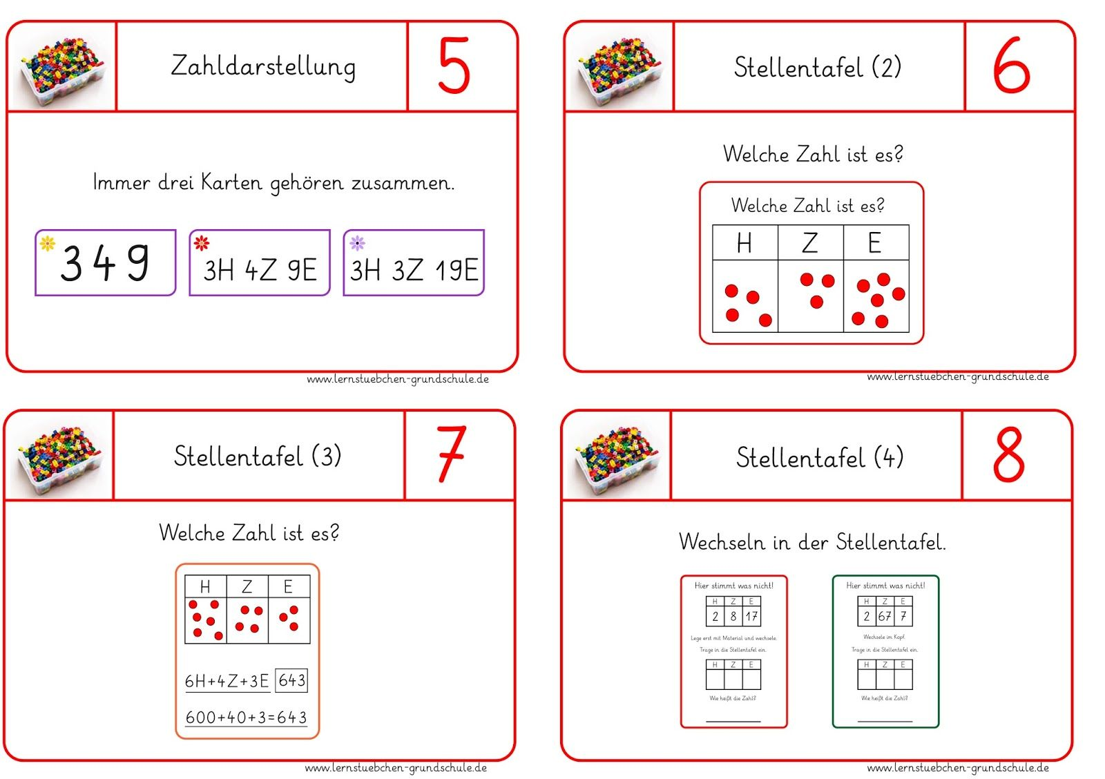 Karten Zhlen Lernen