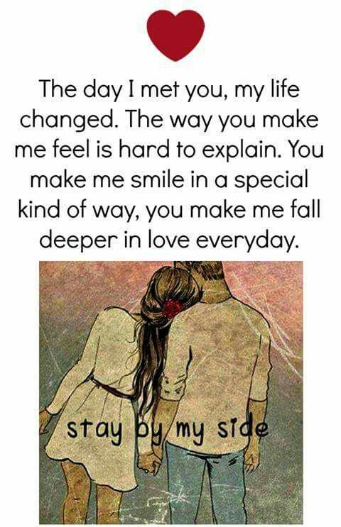 Stay By My Side Cute Love Quotes Qoutes About Love Feelings