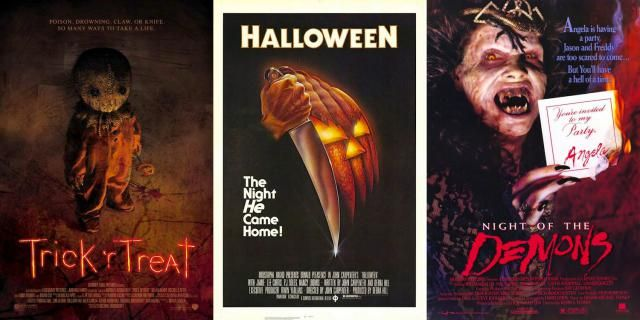 ideas for hosting a halloween themed horror movie marathon with films like trick - Halloween Scary Movies