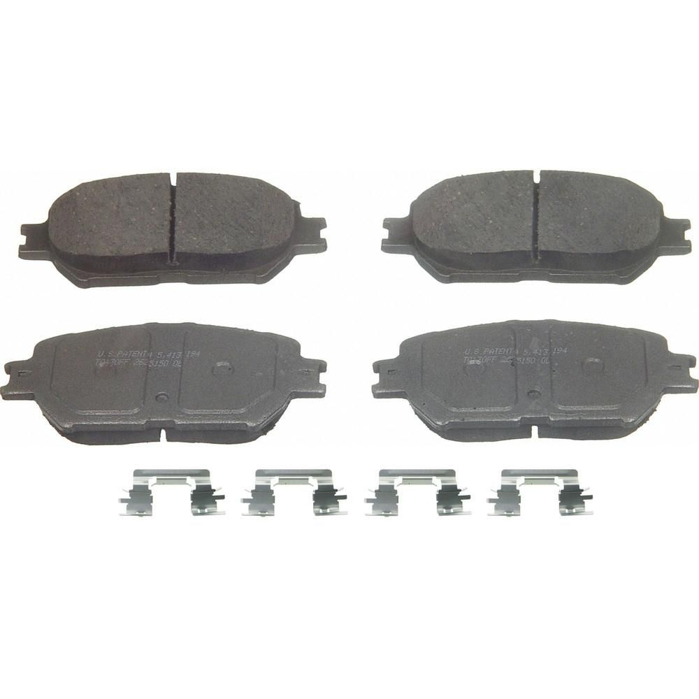 Disc Brake Pad Set-ThermoQuiet Disc Brake Pad Front Wagner PD853