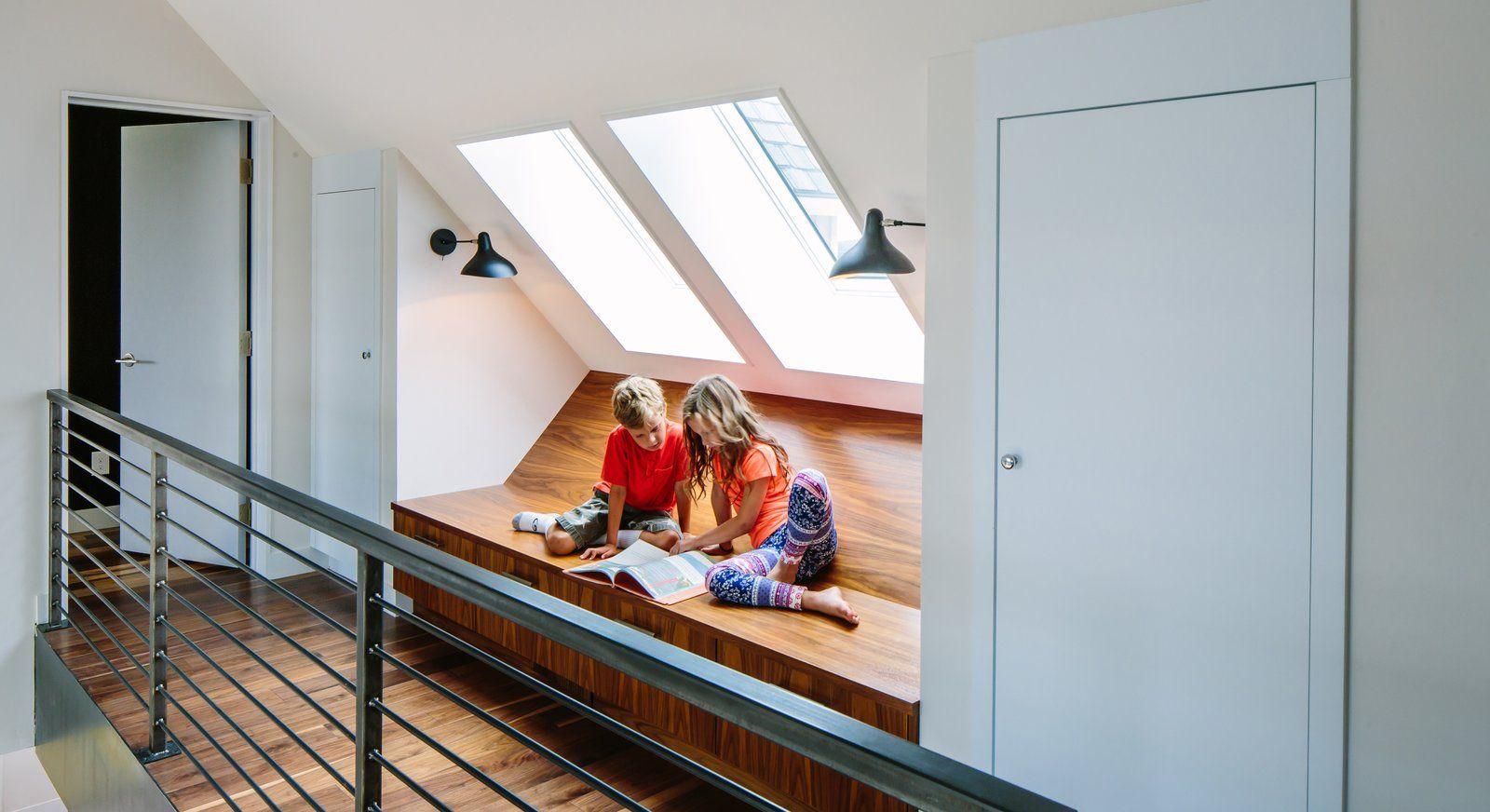 tagged medium hardwood floor kids room playroom bench storage chair - Medium Hardwood Kids Room Interior