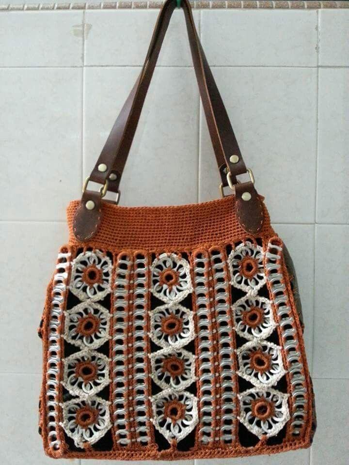 86561d8fb Soda Tab Crafts, Can Tab Crafts, Pop Top Crafts, Crochet Coffee Cozy,