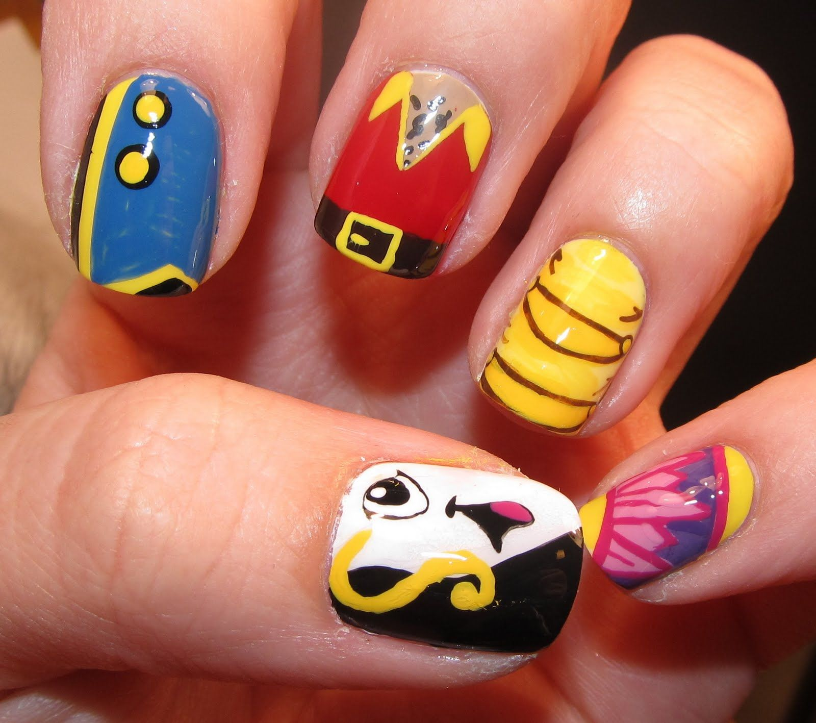 Beauty and the beast nail art nail art pinterest beauty and beauty and the beast nail art prinsesfo Gallery