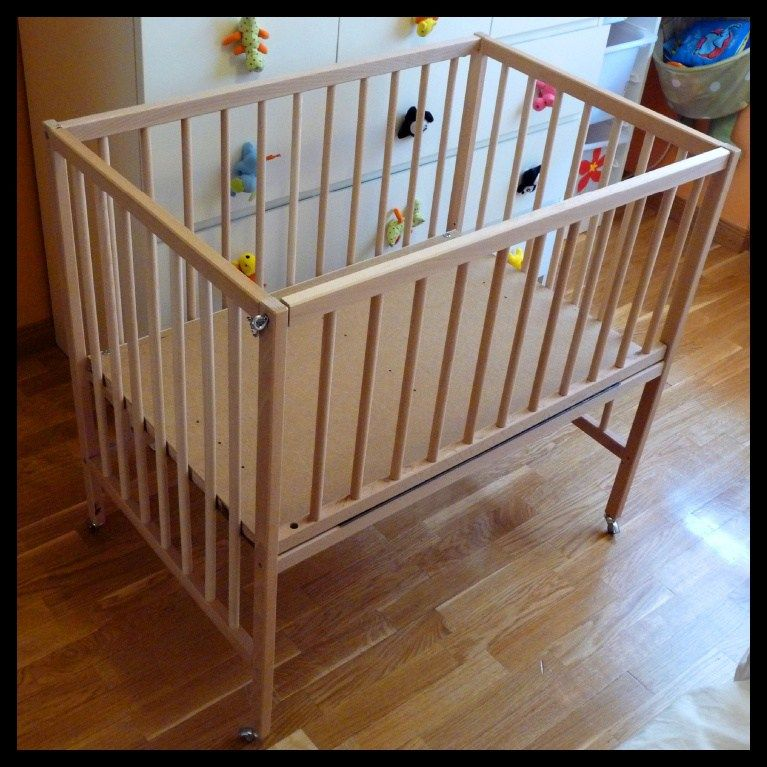 SNIGLAR Crib co sleeper Ikea babybett, Ikea krippe
