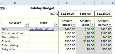 Use Excel To Plan Christmas  Planners Microsoft Excel And Gift