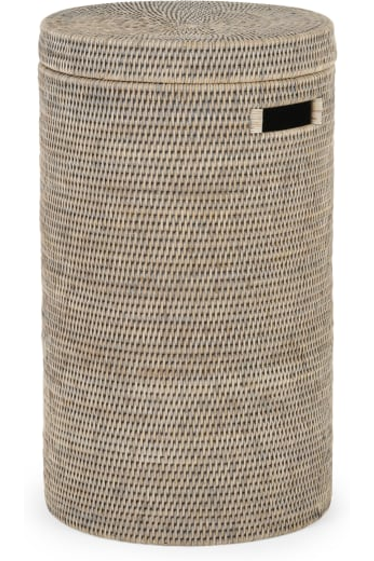 Hadid Hand Woven Rattan Laundry Basket Grey In 2020 Laundry