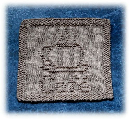Ravelry Caf Dishcloth Pattern By Rachel Van Schie Knit One Purl