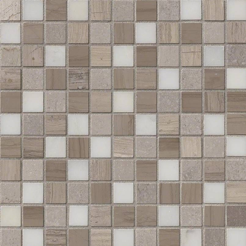 Smot As 1x1h Arctic Storm 1x1 Honed Mini Square Marble Mosaic Grey Taupe Naturalstone Athenssilvermarble Marble Mosaic Grey Mosaic Tiles Marble Mosaic Tiles