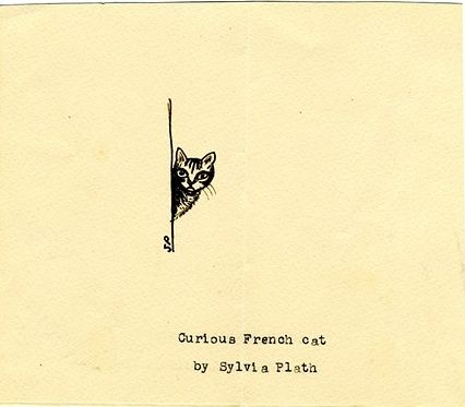 Curious French cat :: Sylvia Plath's sketches (via The Paris Review)