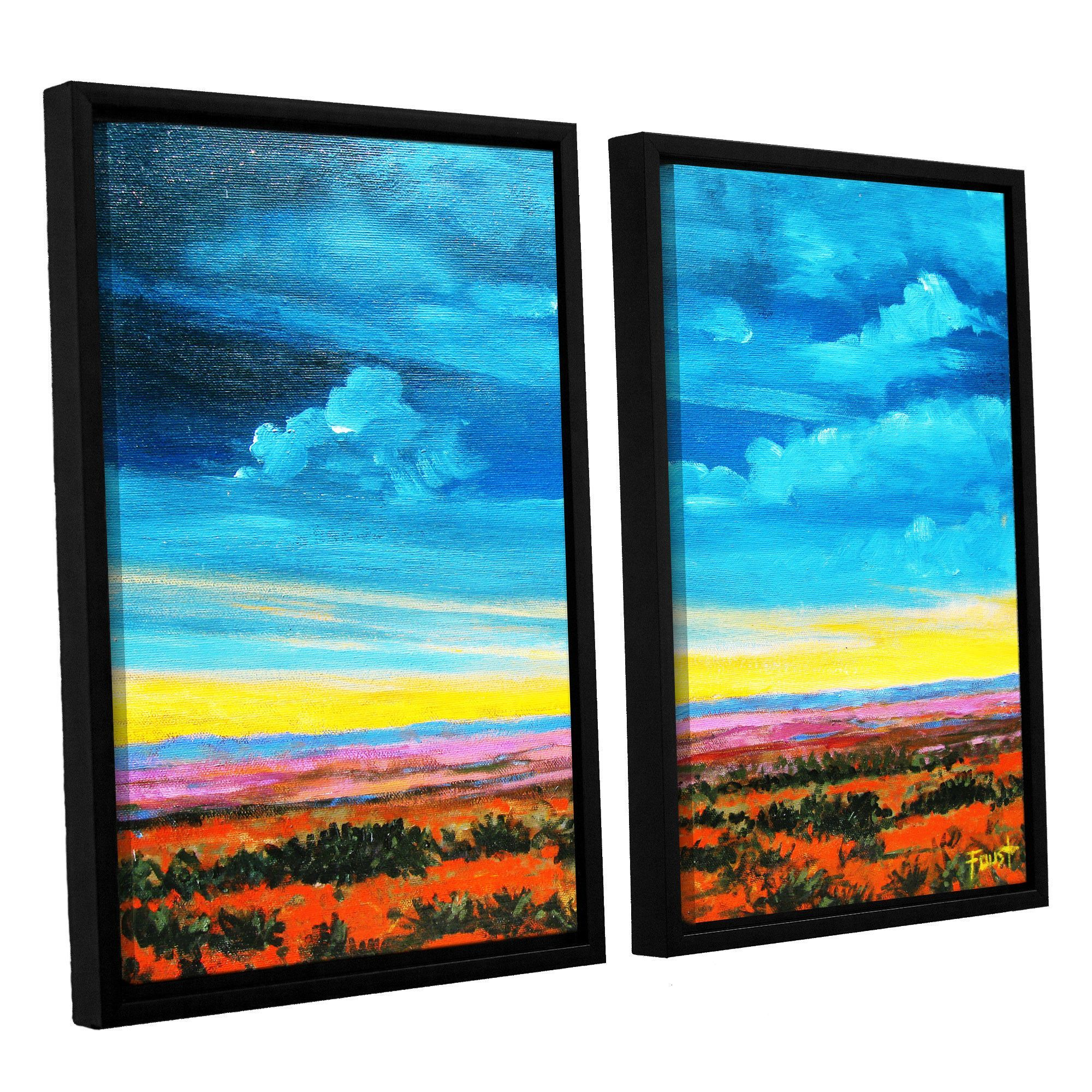 Riders On The Storm by Gene Foust 2 Piece Floater Framed Painting Print on Canvas Set