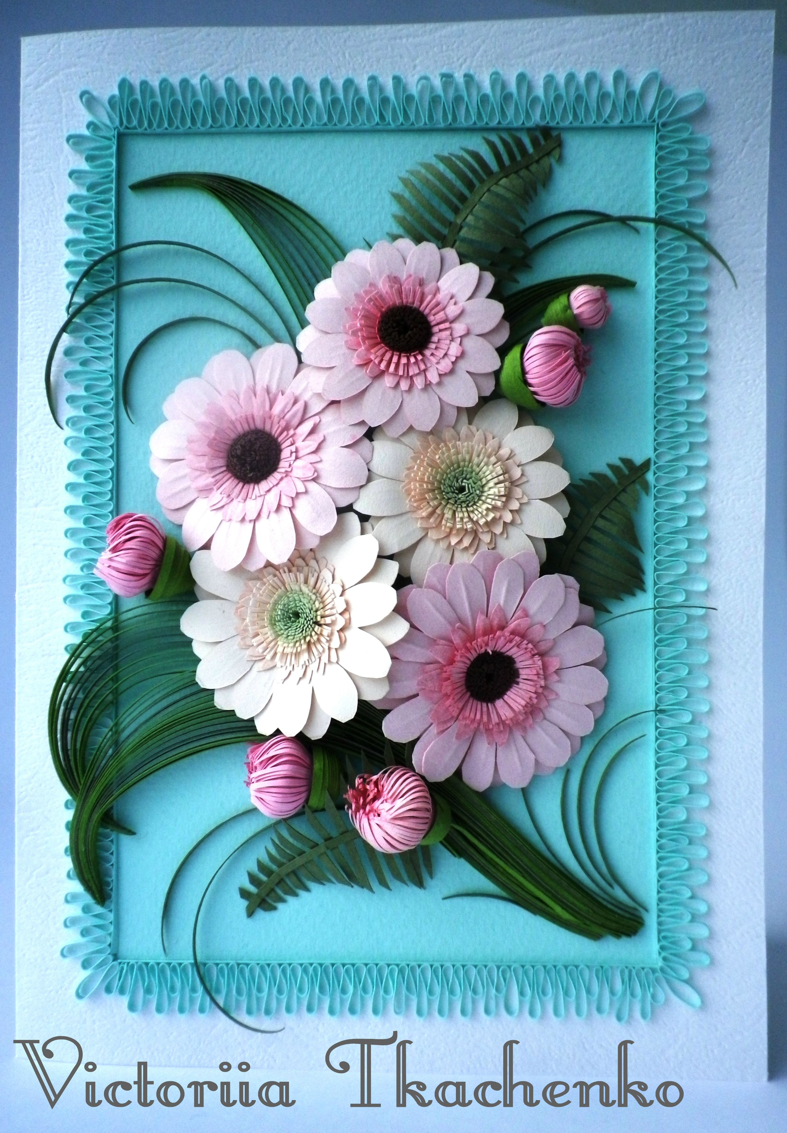 Paper Quilling Flower Cards Yelomdiffusion