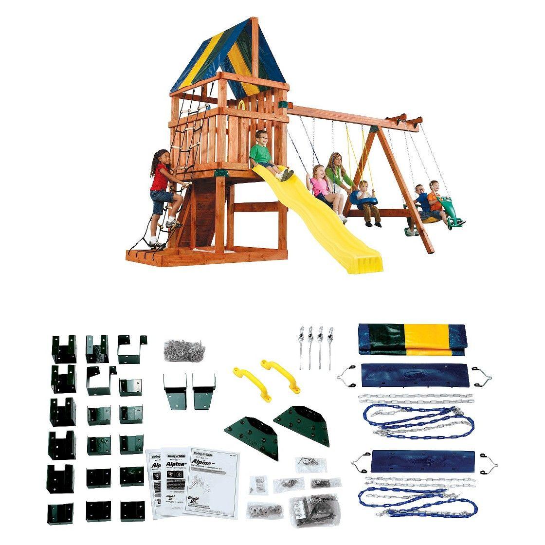 Alpine custom wooden play set kit swing set hardware