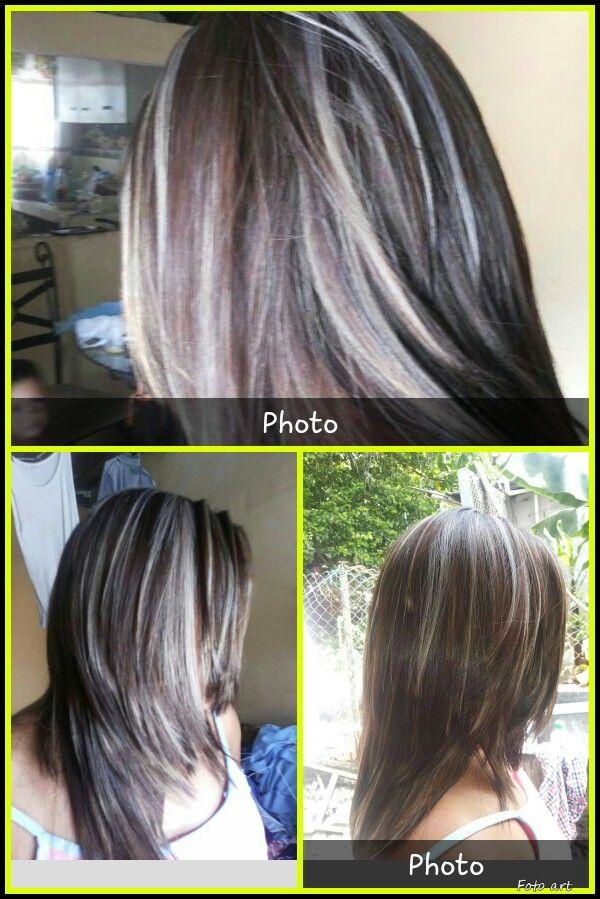 Mechas Blancas Peinados Cabello Belleza