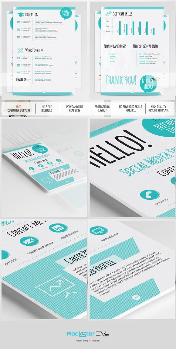 Creative Resume Template  Berenices  Creative Resume Templates
