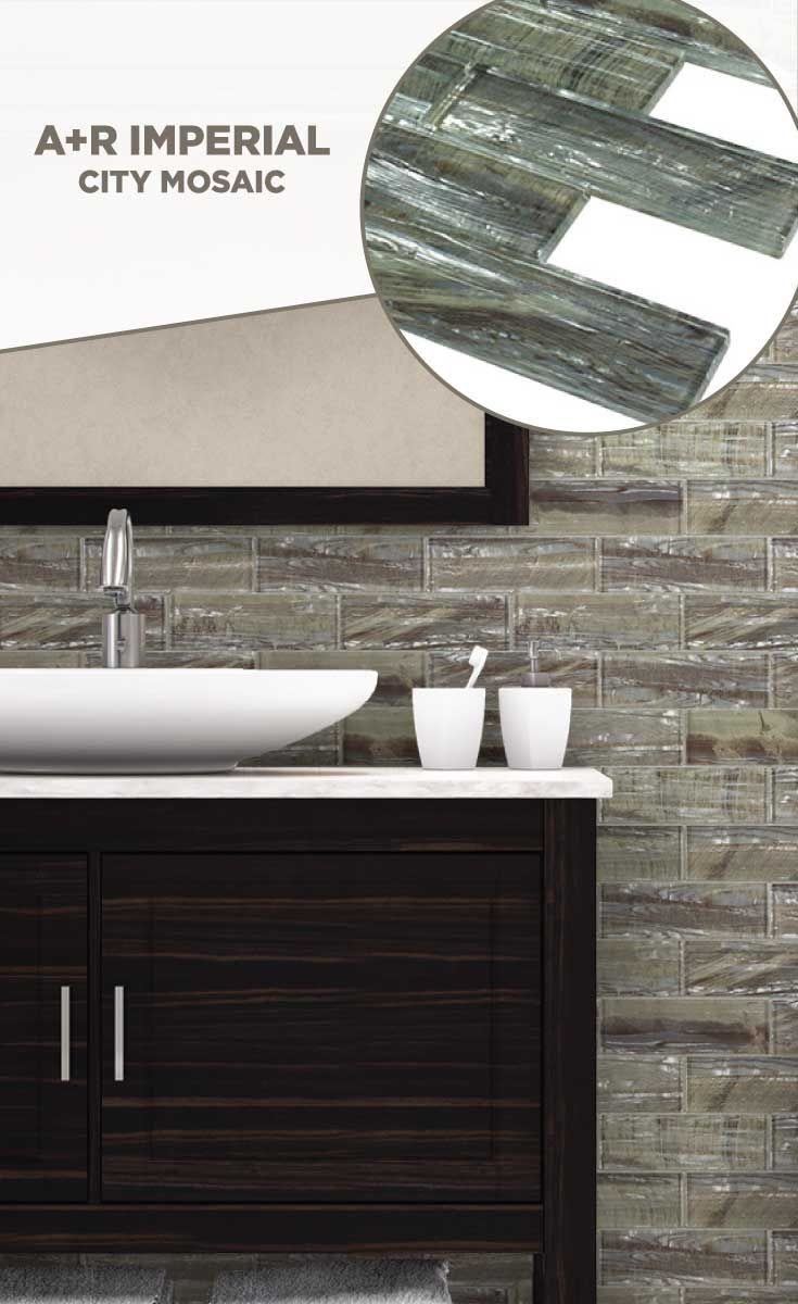 tile #lowes #mosaics #glassmosaics #backsplash AL004GREY0206 ...