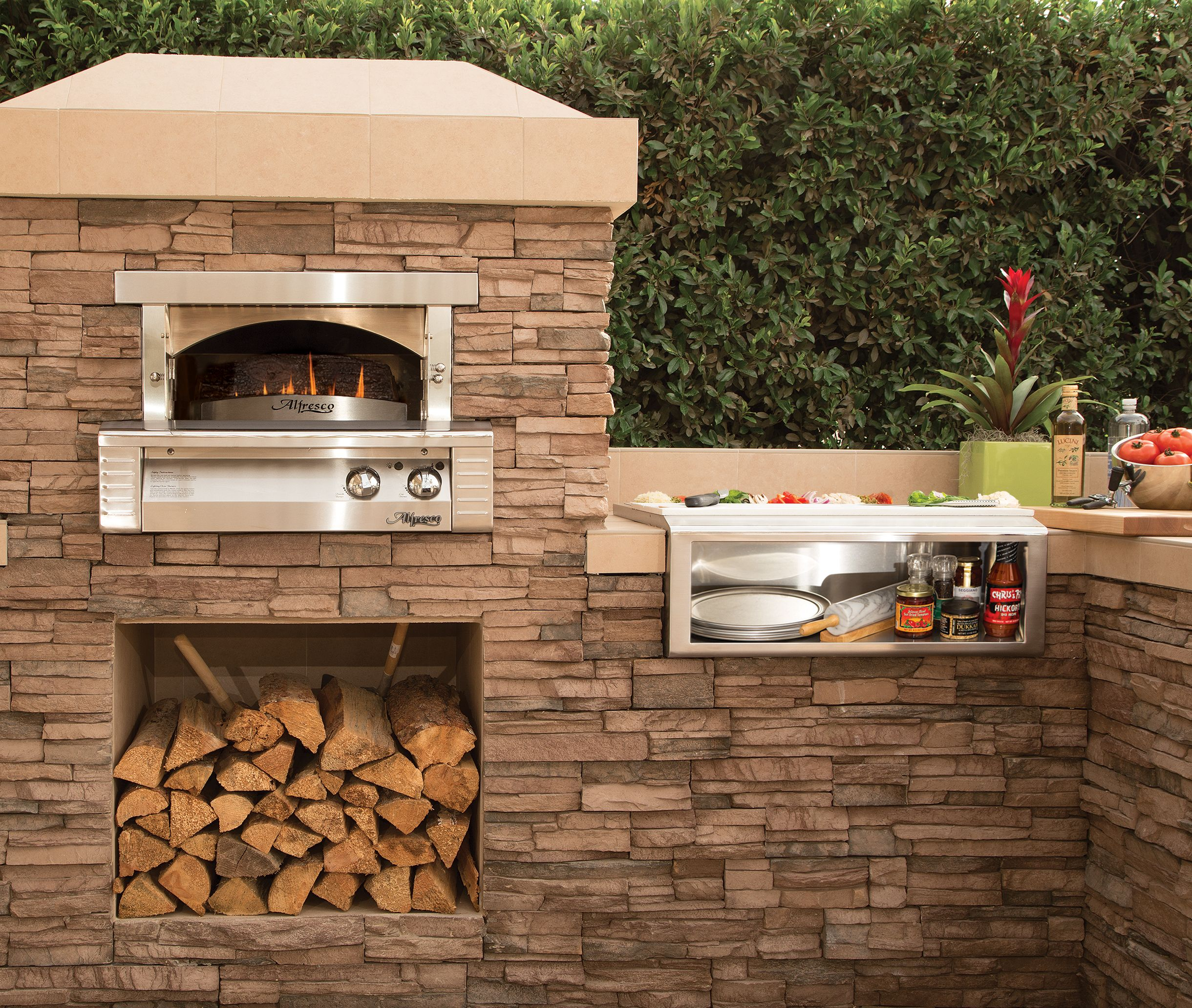 bbq island with gas pizza oven google search landscape ideas